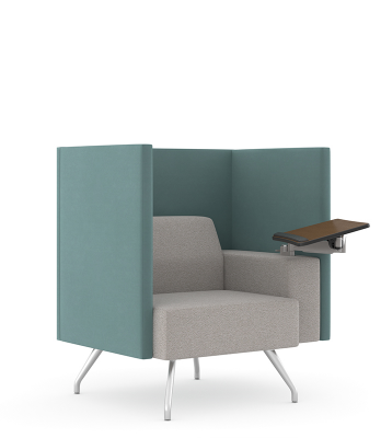 Pairings® One-Seat Privacy + Tech Arm