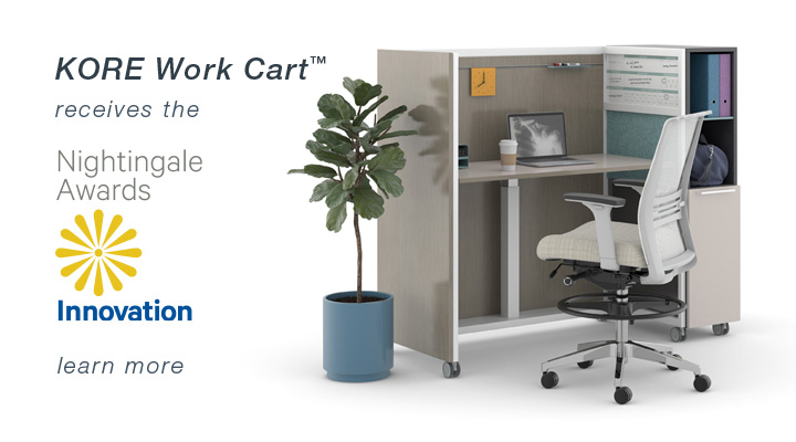office working table long kore work cart receives innovation award home kimball